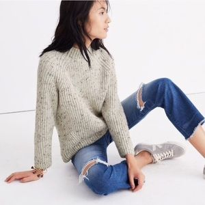 Madewell Donegal Northfield Mockneck sweater